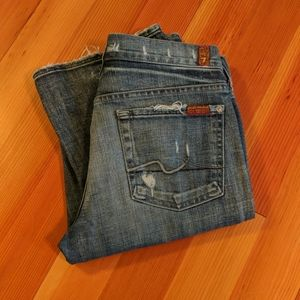 7FAMK Bootcut 29 x 34 Distressed Ladies Jeans